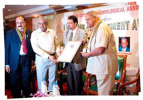 An image from Lifetime Achievement Award for Dr. Badrinath