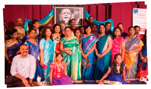 An image from MS Amma centennial celebrations