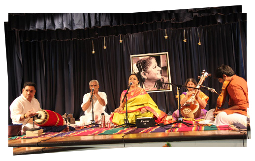 An image from MS Amma centennial celebrations at Atlanta