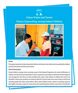 An image from colour vision and career choice counselling among school children